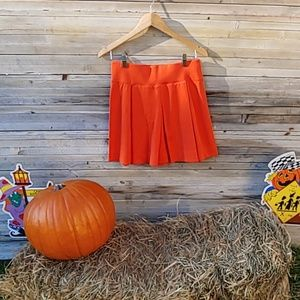 Kit and ace orange pleated skirt